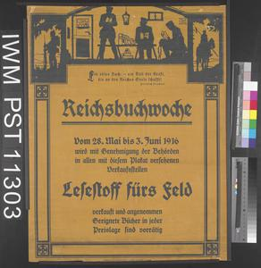 Reichsbuchwoche - Lesestoff fürs Feld [National Book Week - Reading Material for the Field]