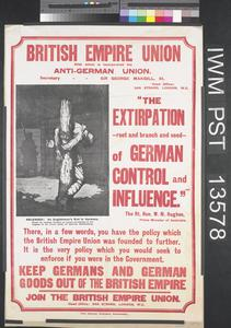 The Extirpation of German Control and Influence