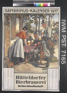 Gambrinus-Kalender 1917 [Gambrinus Calendar 1917]