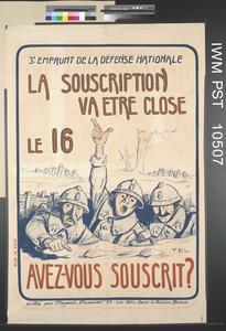 La Souscription va etre Close [Subscription will Close]