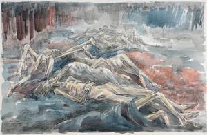 Human Wreckage at Belsen Concentration Camp, 1945