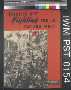Patriots are Fighting for Us Day and Night