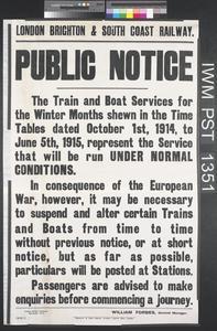 London, Brighton and South Coast Railway - Public Notice