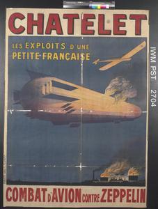 Chatelet - Combat d'Avion Contre Zeppelin [Chatelet - In Air Combat against a Zeppelin]