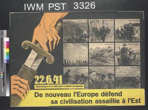 De Nouveau l'Europe Défend sa Civilisation Assaillie à l'Est [Europe Is Again Defending Its Civilisation Under Attack from the East]
