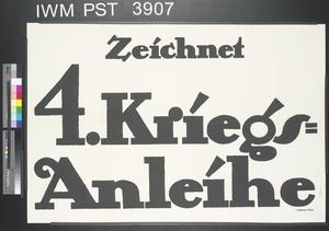 Zeichnet Vierte Kriegsanleihe [Subscribe to the Fourth War Loan]