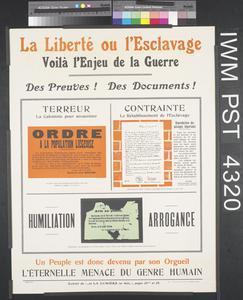 La Liberté ou l'Esclavage [Freedom or Slavery]