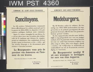 Concitoyens - Medeburgers [Fellow Citizens]