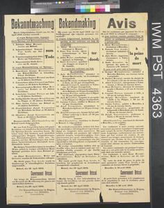 Bekanntmachung - Bekendmaking - Avis [Notice]