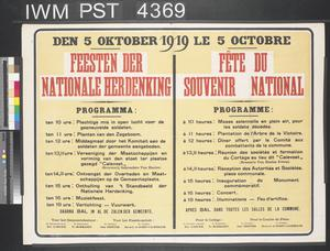 Feesten der Nationale Herdenking - Fête du Souvenir National [National Rememberance Festivities]