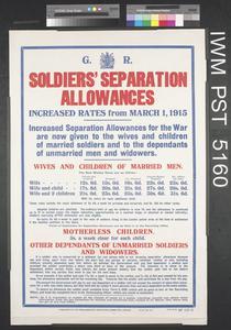 Soldiers' Separation Allowances