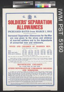 Soldiers' Separation Allowances