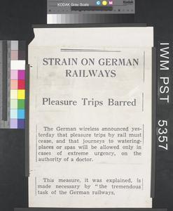 Strain on German Railways