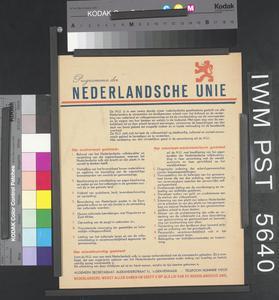 Programma der Nederlandsche Unie