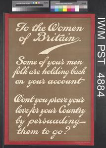 To the Women of Britain