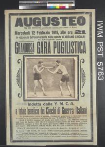 Grandiosa Gara Pugilistica [A Magnificent Boxing Meeting]