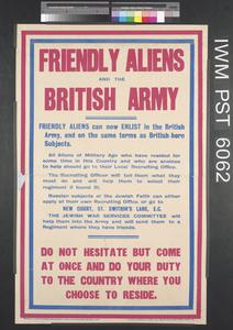 Friendly Aliens and the British Army