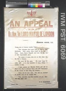 An Appeal by the Right Honourable the Lord Mayor of London