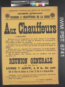 Aux Chauffeurs [To Drivers]