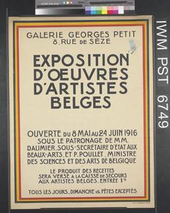 Exposition d'Œuvres d'Artistes Belges [Exhibition of Works by Belgian Artists]