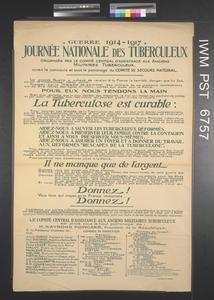 Journée Nationale des Tuberculeux [National Tuberculosis Day]