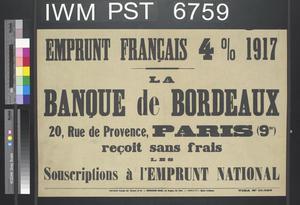 Emprunt Français Quatre pour cent 1917 [Four Percent French Loan 1917]