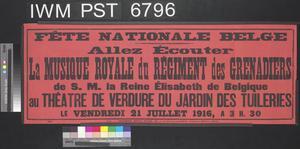 La Musique Royale du Régiment des Grenadiers [Royal Band of the Grenadiers Regiment]
