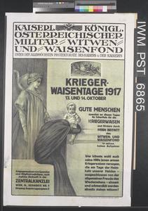 Krieger Waisentage 1917 [Servicemen's Orphans' Days 1917]