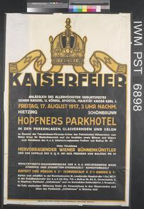Kaiserfeier [Emperor's Birthday Celebration]
