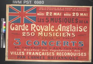 Garde Royale Anglaise - Trois Concerts [British Royal Guards - Three Concerts]
