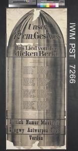 Unsere 42cm Geschoss - Das Lied von der Dicken Berta [Our 42 cm Shell – The Song of Big Bertha]