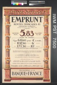 Emprunt en Rentes Françaises Quatre pour cent [Four Percent French Rates Loan]