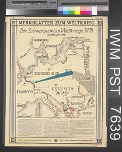 Merkblätter zum Weltkrieg - Der Schwerpunkt im Weltkriege 1918 [World War Leaflets – The Focus of the World War 1918]