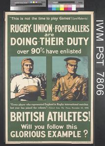 Rugby Union Footballers are Doing Their Duty