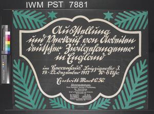Ausstellung und Verkauf von Arbeiten Deutscher  Zivilgefangener in England [Exhibition and Sale of Work of German Civilian Prisoners in England]