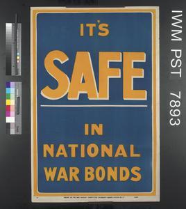 It's Safe in National War Bonds
