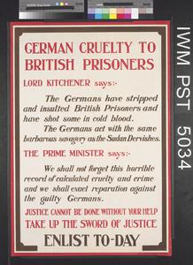 German Cruelty to British Prisoners