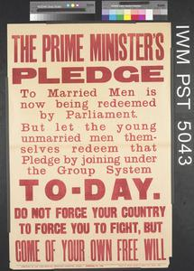 The Prime Minister's Pledge