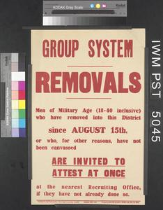 Group System - Removals