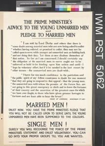 The Prime Minister's Advice to the Young Unmarried Men...