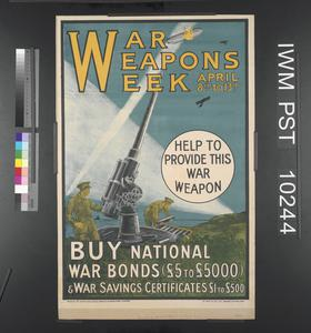 War Weapons Week April 8th to 13th