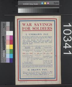 War Savings for Soldiers