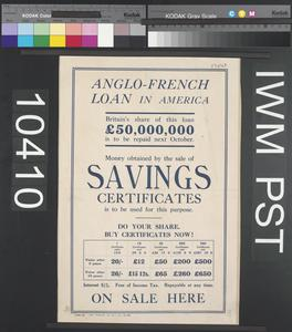 Anglo-French Loan in America