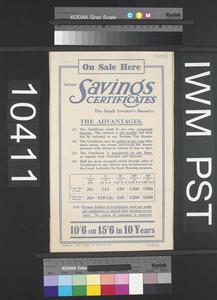 On Sale Here National Savings Certificates