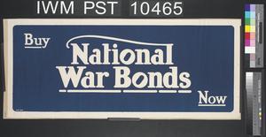 Buy National War Bonds Now