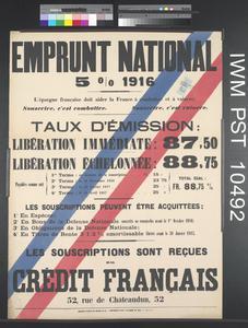 Emprunt National Cinq pour cent 1916 [Five Percent National Loan 1916]