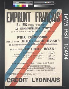 Emprunt Français Cinq pour cent 1916 [Five Percent French Loan 1916]