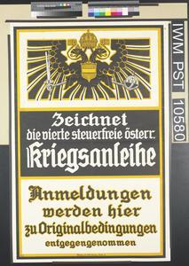 Zeichnet die Vierte Steuerfreie Österreichische Kriegsanleihe [Subscribe to the Fourth Tax-Free Austrian War Loan]