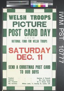 Welsh Troops Picture Post Card Day
