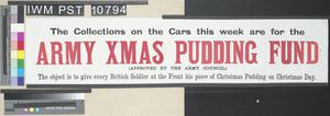 Army Christmas Pudding Fund